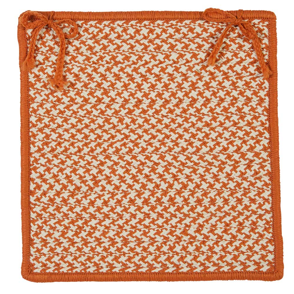Outdoor Houndstooth Tweed Chair Pads Colonial Mills