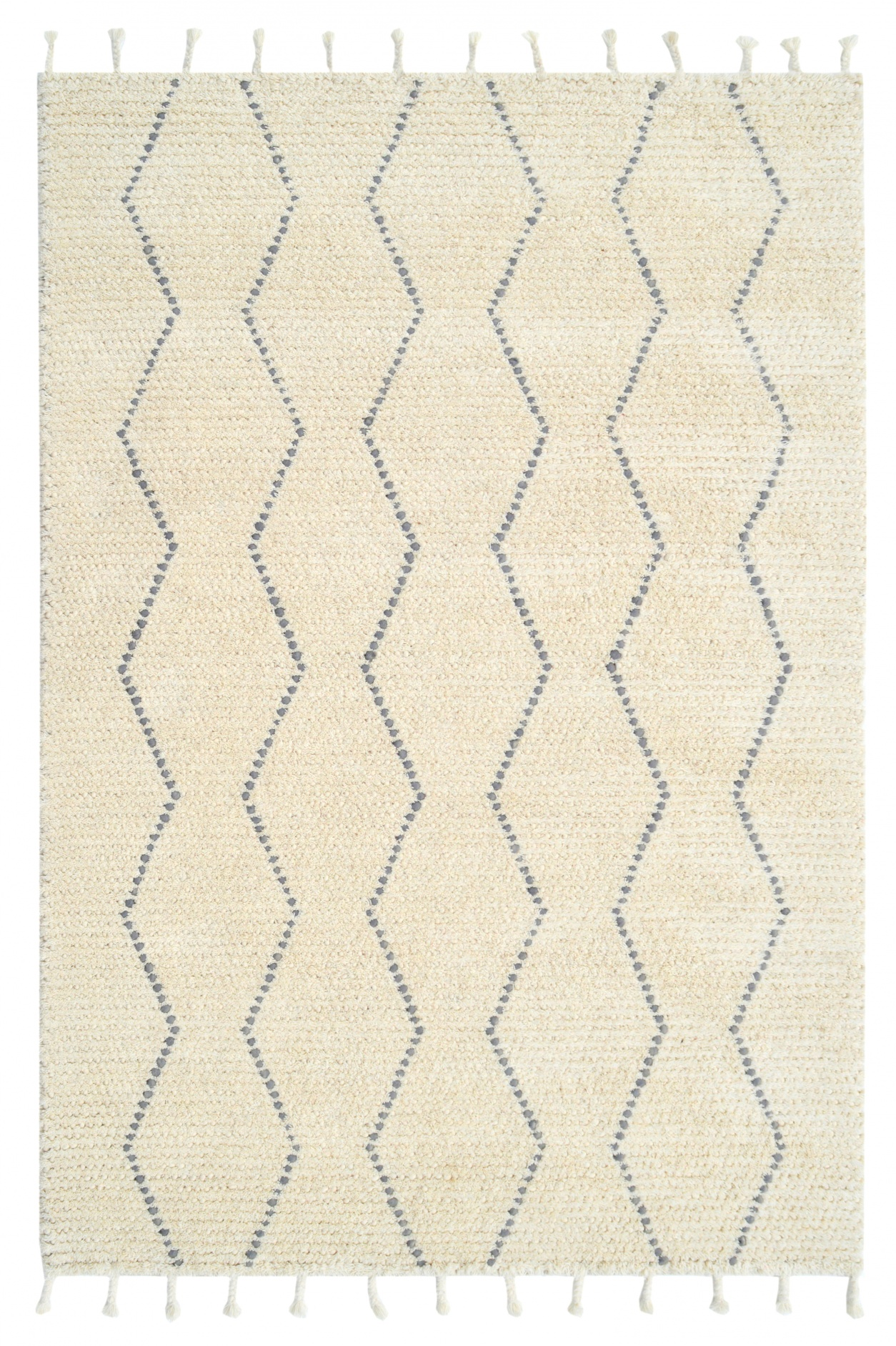 Dynamic Area Rugs Celestial 6950-109 Ivory/Gray Moroccan Design