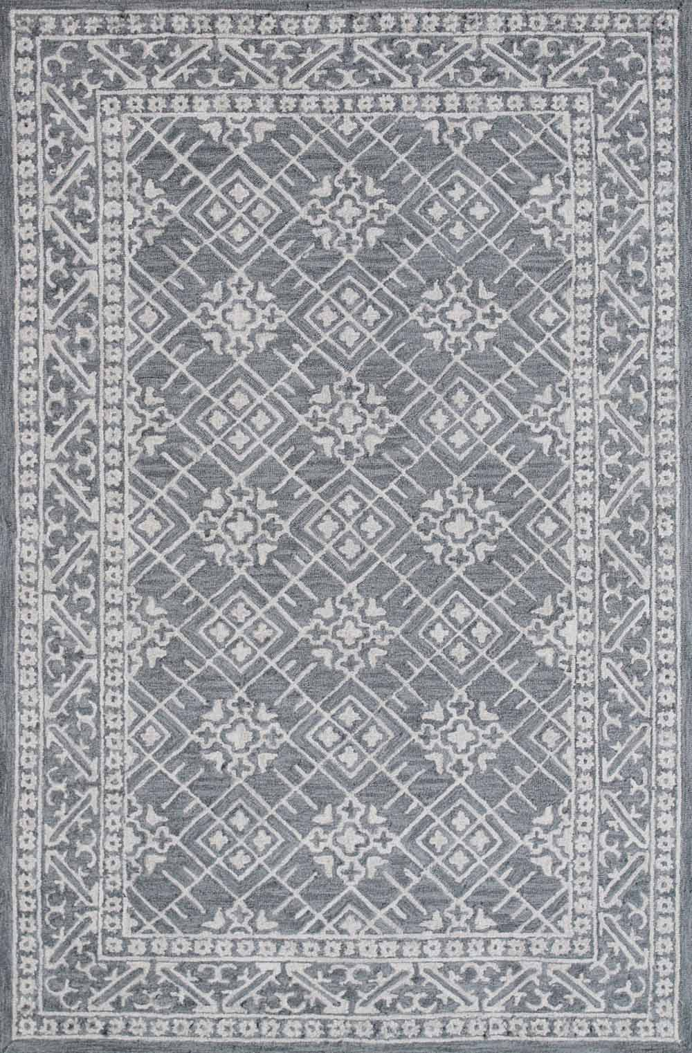 Dynamic Area Rugs Galleria 7855-509 Gray Geometric Design