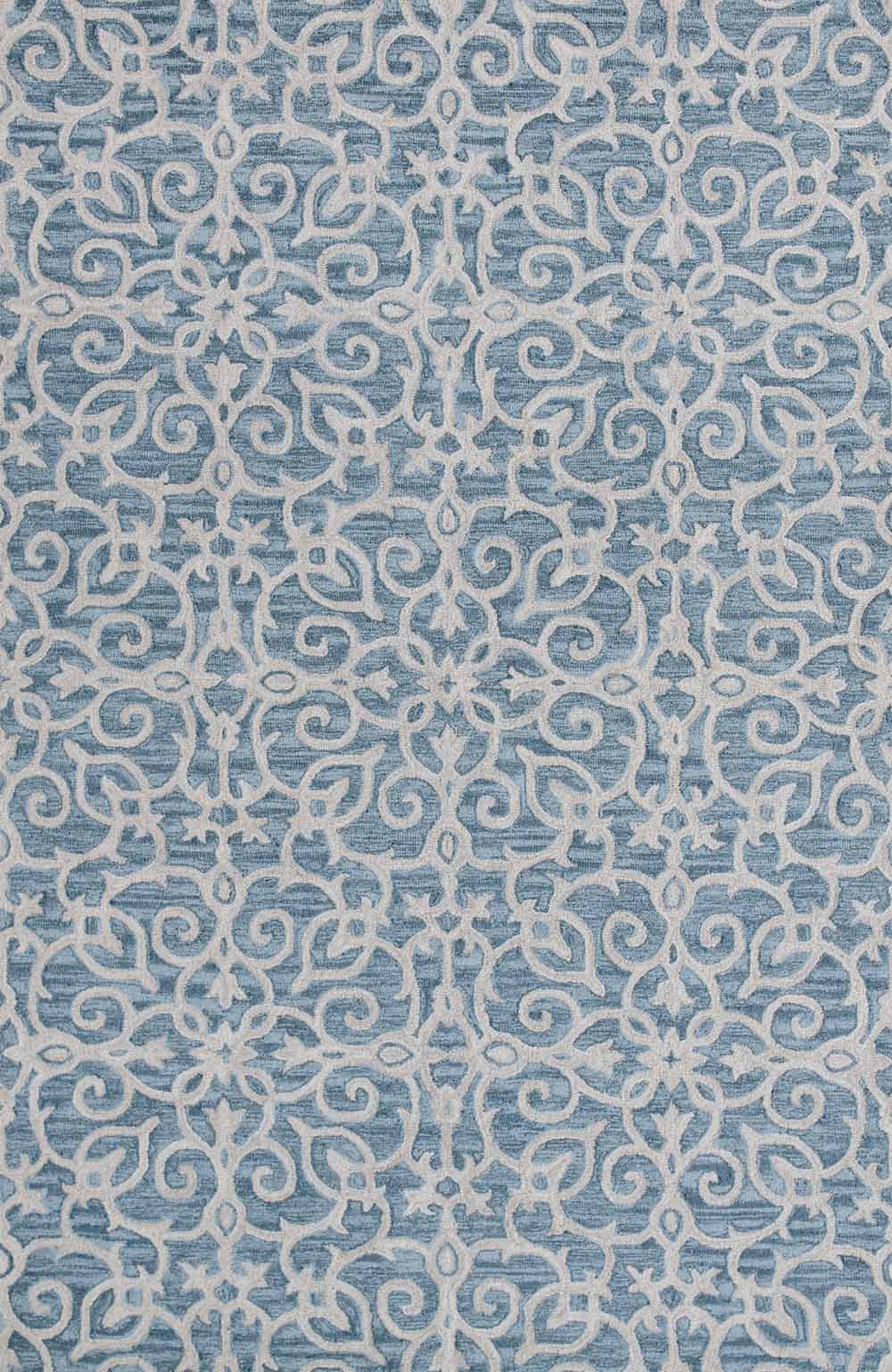 Dynamic Area Rugs Galleria 7861-590 Blue Geometric Design