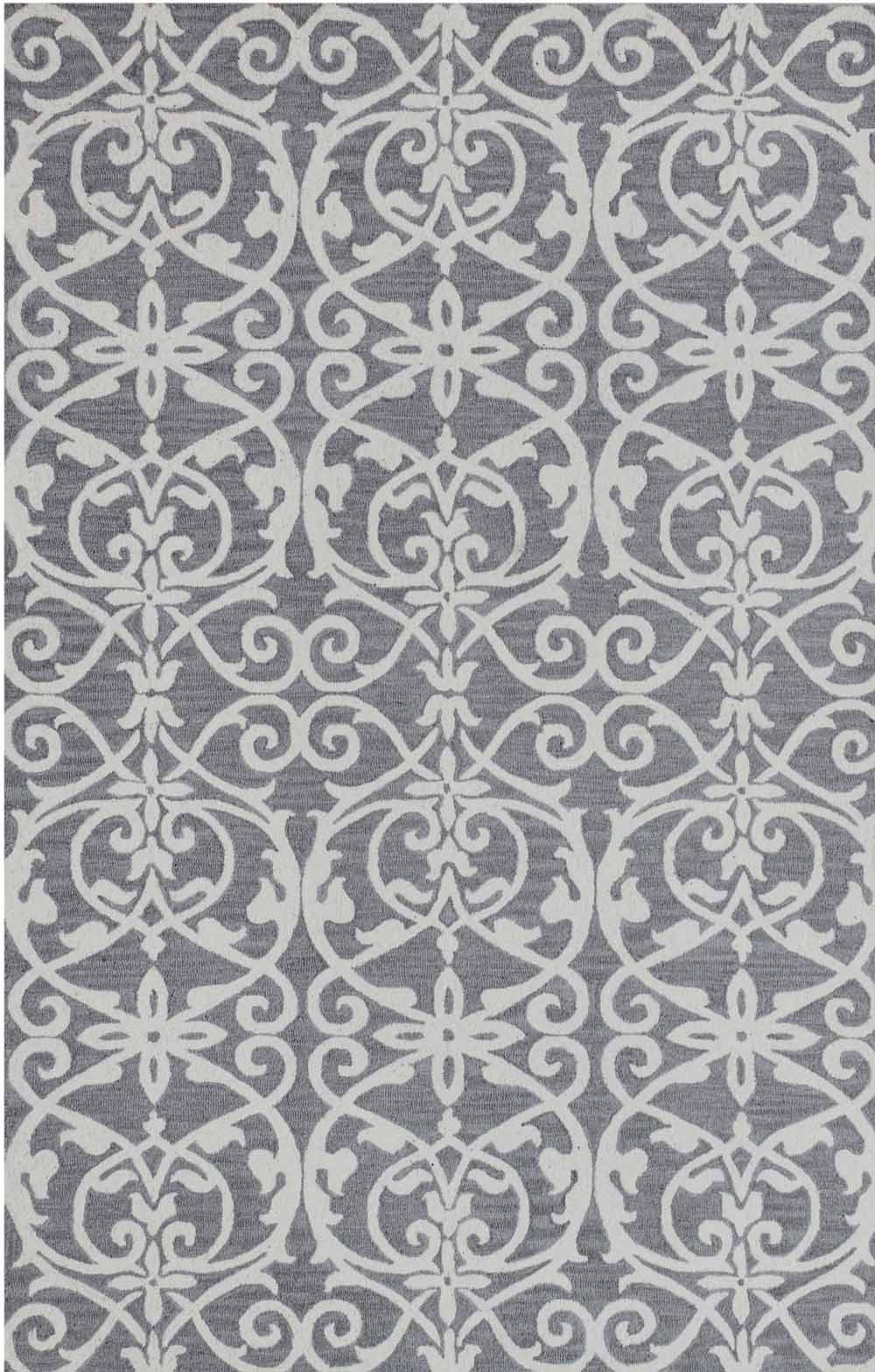 Dynamic Area Rugs Galleria 7864-910 Silver Geometric Design