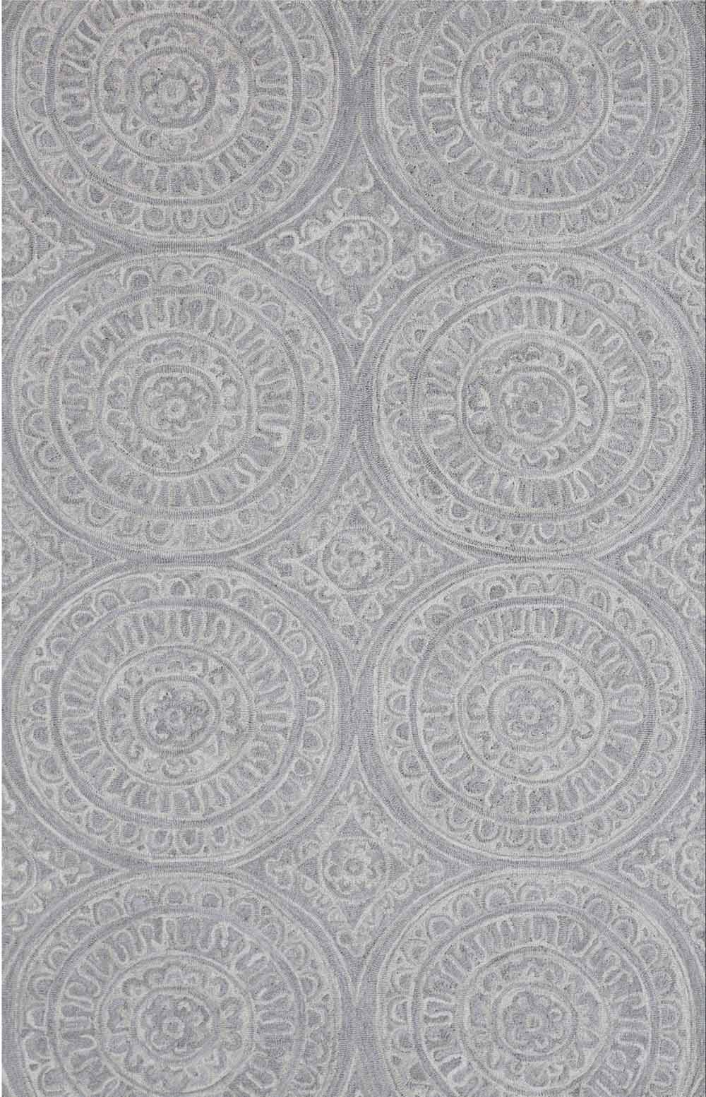 Dynamic Area Rugs Galleria 7866-140 Silver Geometric Design
