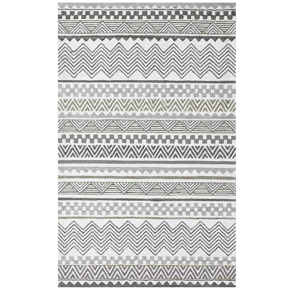 Dynamic Area Rugs Aztec 7870-900 Gray Southwestern Design