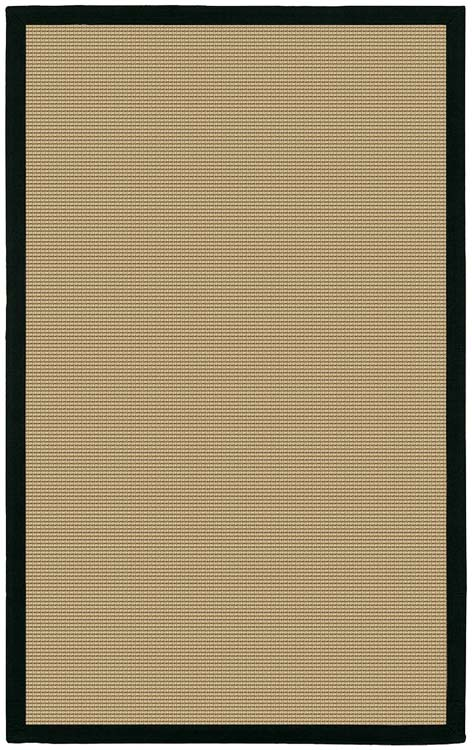 Sisal Area Rug with Black Border