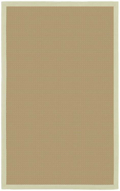 Sisal Area Rug with Green Border