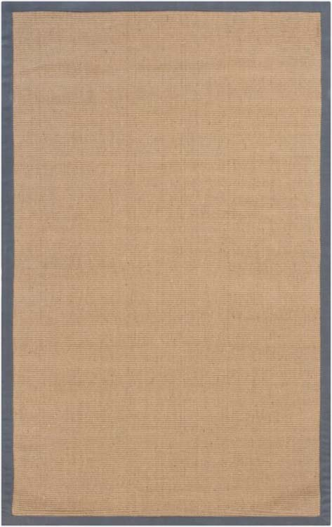 Sisal Area Rug with Grey Border