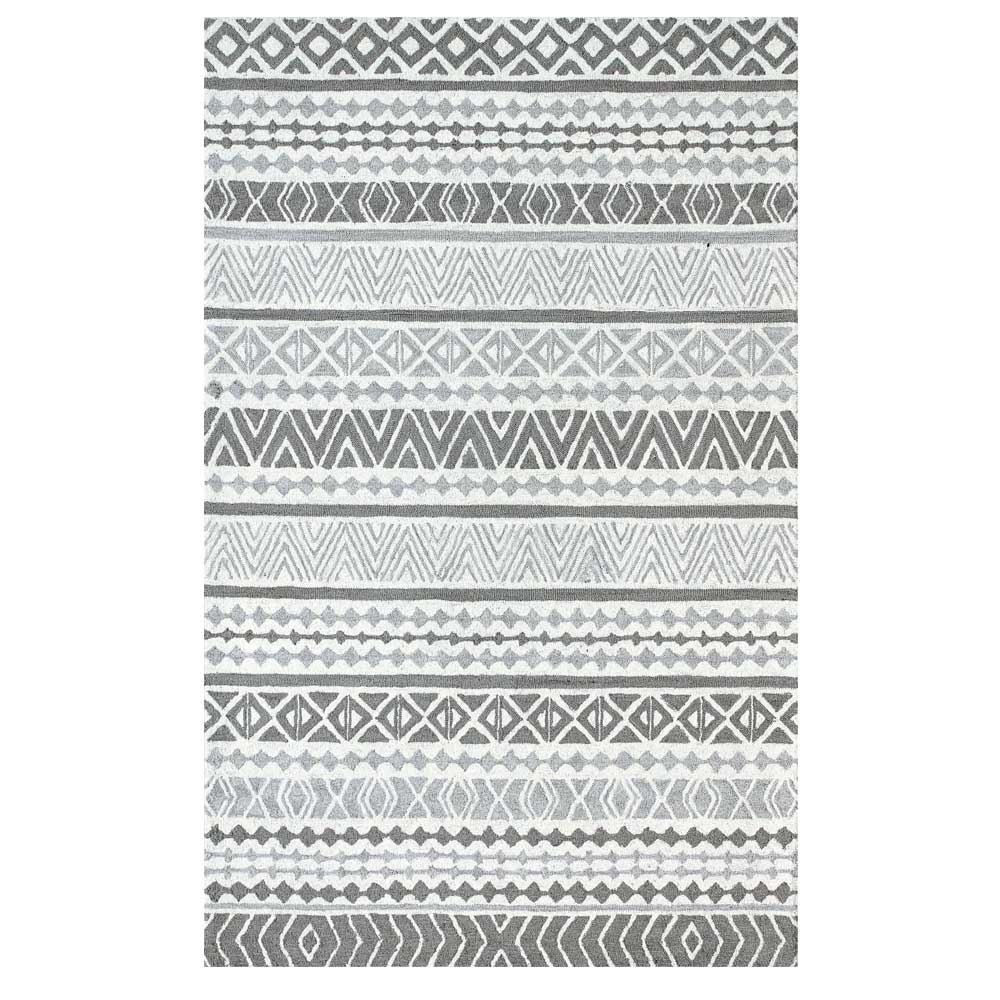 Dynamic Area Rugs Aztec 7871-900 Gray Southwestern Design