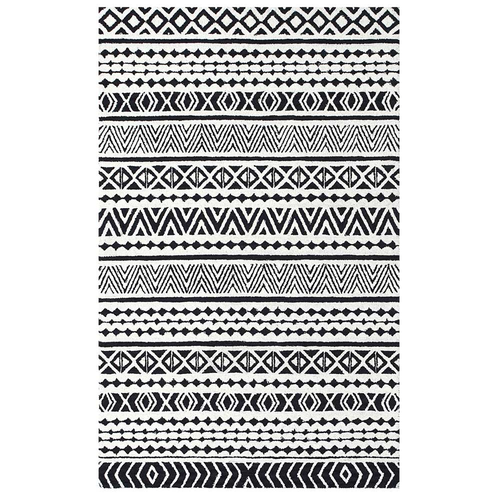 Dynamic Area Rugs Aztec 7871-990 Gray/Black Southwestern Design