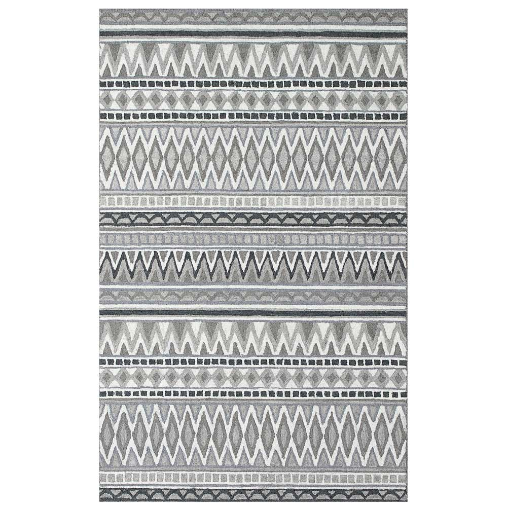 Dynamic Area Rugs Aztec 7872-900 Gray Southwestern Design