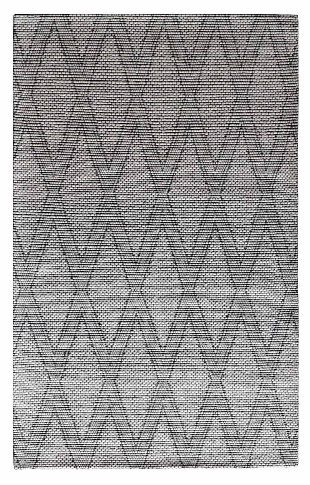 Dynamic Area Rugs Cleveland 7453-190 White Gray Geometric Design