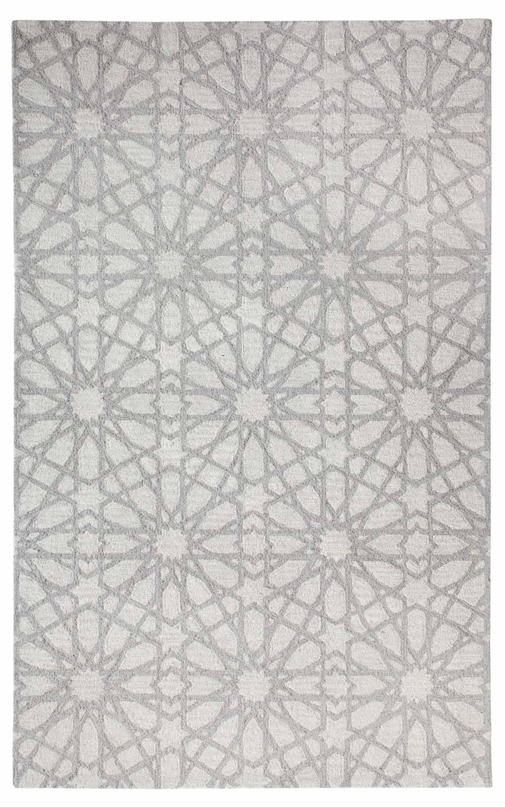 Dynamic Area Rugs Galleria 7862-900 Silver Geometric Design