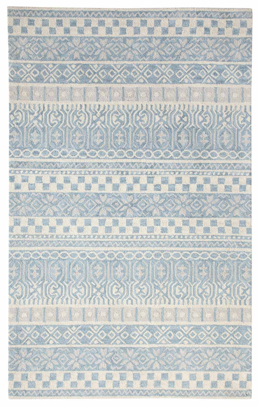 Dynamic Area Rugs Galleria 7863-500 Blue Geometric Design