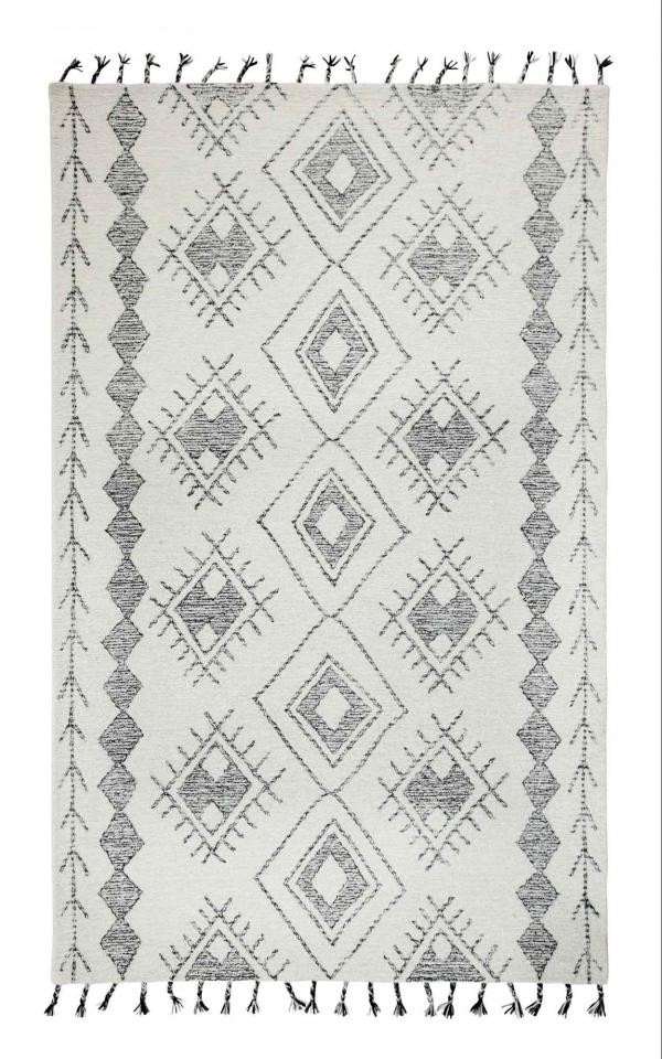 Dynamic Area Rugs Casablanca 4870-190 Ivory/Black Southwestern Design