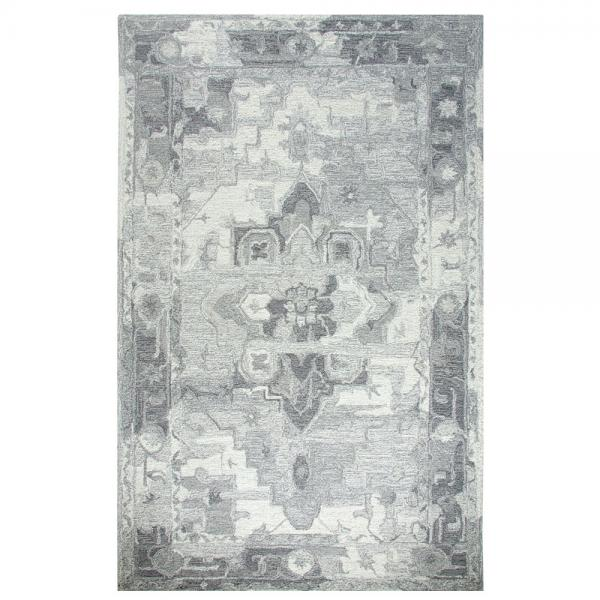 Dynamic Area Rugs Avalon 88801-119 Ivory/Silver